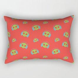 Music Skull v2 Rectangular Pillow