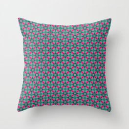 Indian Inspiration In Pink and Green Throw Pillow