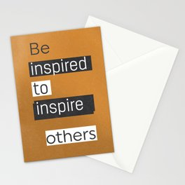 Be inspired to inspire others TAKE AWAY VERS Stationery Cards