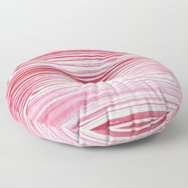 Red Watercolor Thin Lines Floor Pillow