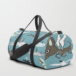 chipegacorn, chihuahua dog + pegasus + unicorn mythical creature! chipegacorn, chihuahua dog + pegas Duffle Bag