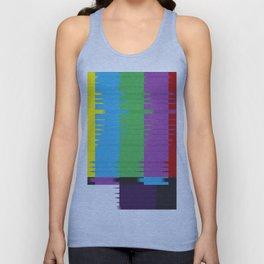 color tv bar#glitch#effect Unisex Tank Top