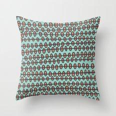 Coral Pebbles Throw Pillow