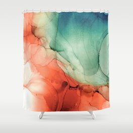 Fire and Water Shower Curtain