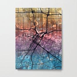 Houston Texas City Street Map Metal Print