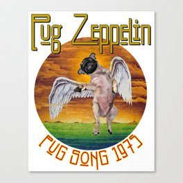 Pug Zeppelin Canvas Print