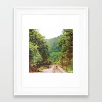 wisconsin Framed Art Prints featuring Wisconsin by Long Mountain Prints