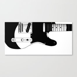 Electric Guitar Drawing Canvas Print