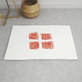 flag Switzerland 4-,Swiss,Schweizer, Suisse,Helvetic,zurich,geneva,bern,godard,heidi Rug