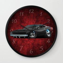 Classic 60's American Muscle Car Cartoon Wall Clock