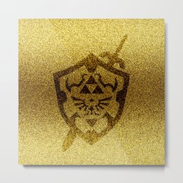 zelda shield gold Metal Print