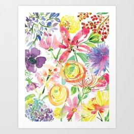 Bold Florals Art Print