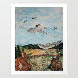 Nils Holgersson Art Print