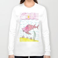 tennessee Long Sleeve T-shirts featuring Tennessee Lake Sturgeon by Ryan van Gogh