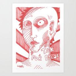 Tak for pølse (thanks for the sausage) Art Print