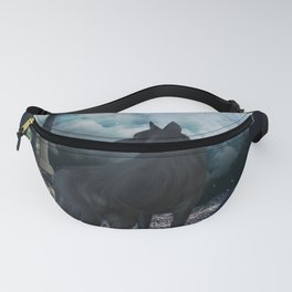 The lonely wolf in the dark night Fanny Pack