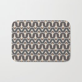 BAOBAB - abstract ethnic boho pattern tan chocolate brown grey Bath Mat