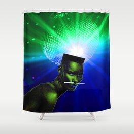 """Grace Jones """"Remixed"""" Shower Curtain"""