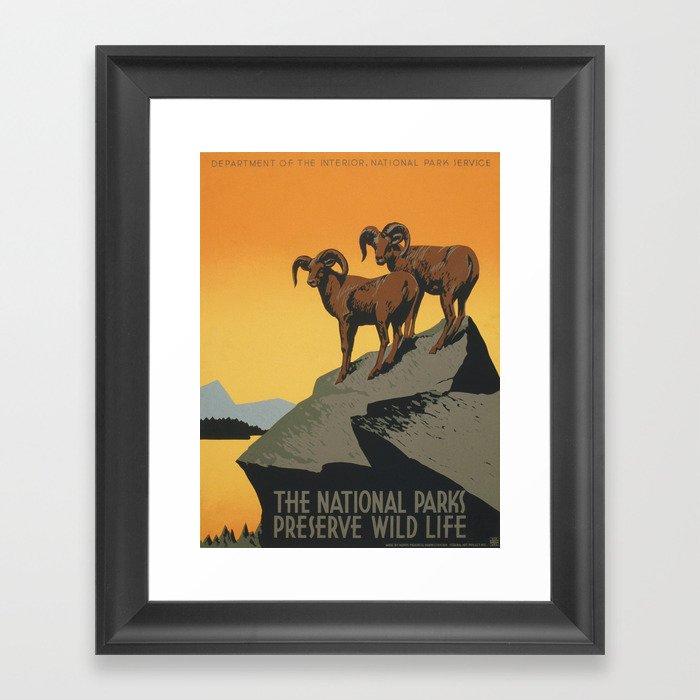 Vintage poster - National Parks Gerahmter Kunstdruck