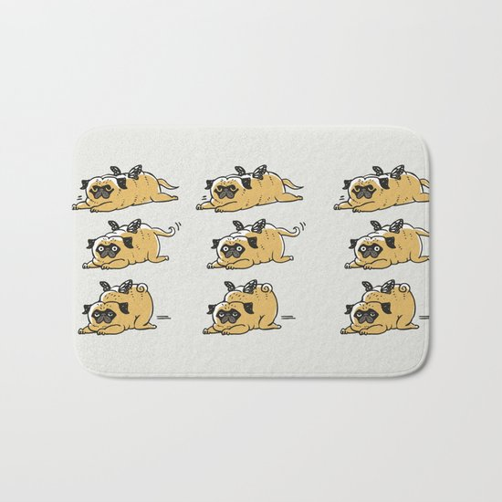 Puggerpillar Bath Mat