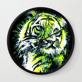 Neon tiger Wall Clock