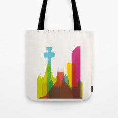 Shapes of Liverpool. Accurate to scale. Tote Bag
