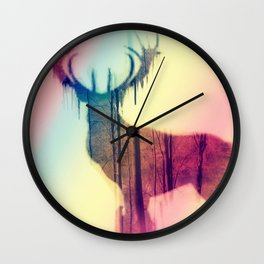 Deer colorful Wall Clock