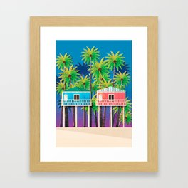 Palolem Beach Huts Framed Art Print