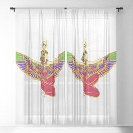 Winged Isis w/Eye of Horus Sheer Curtain