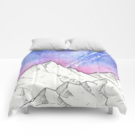 Mountains in the Evening Comforters