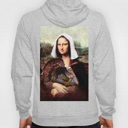 Mona Lisa Thanksgiving Pilgrim Hoody