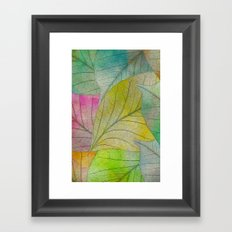 Pattern of Colorful Leaves Framed Art Print