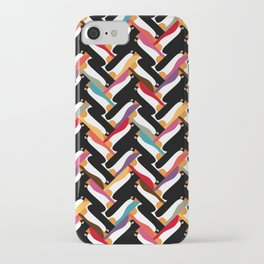 herringbone penguin iPhone Case