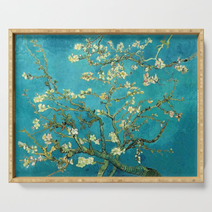 Vincent Van Gogh Blossoming Almond Tree Serving Tray