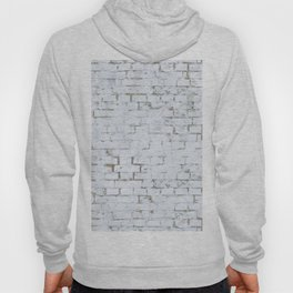 Vintage White Brick Wall Hoody
