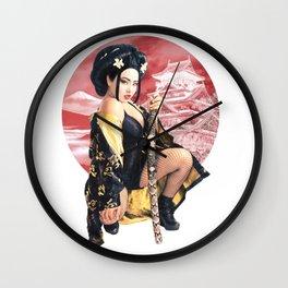 GEISHA WARRIOR Wall Clock