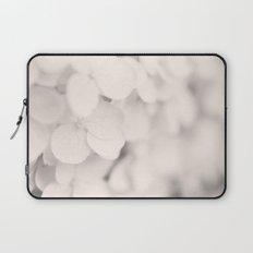 White Hydrangea Laptop Sleeve