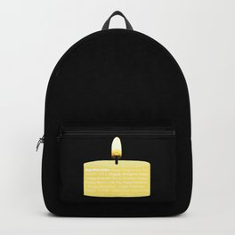 Happy Holidays Candle Backpack