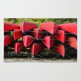 Red Canoes Rug