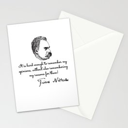 Nietzsche quotes Stationery Cards