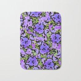 Periwinkle Bouquet Bath Mat