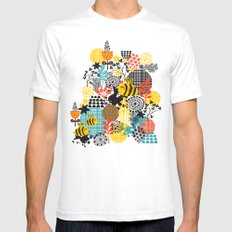 The bee. White SMALL Mens Fitted Tee