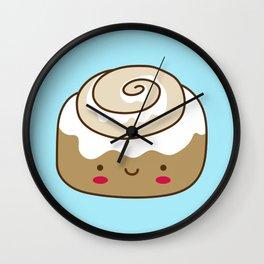 Cute Kawaii Cinnamon Bun Wall Clock