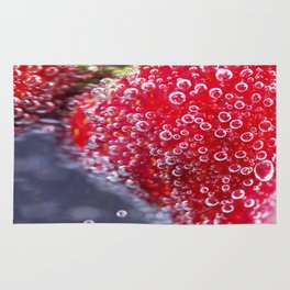 Bubbly Strawberries Rug