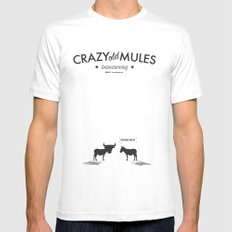 Crazy old Mule / Chicago Mule MEDIUM White Mens Fitted Tee