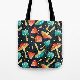 Bright mushrooms Tote Bag