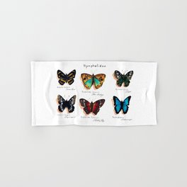 Nymphalidae butterflies Hand & Bath Towel