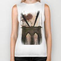 bridge Biker Tanks featuring Bridge by Daniela Battaglioli