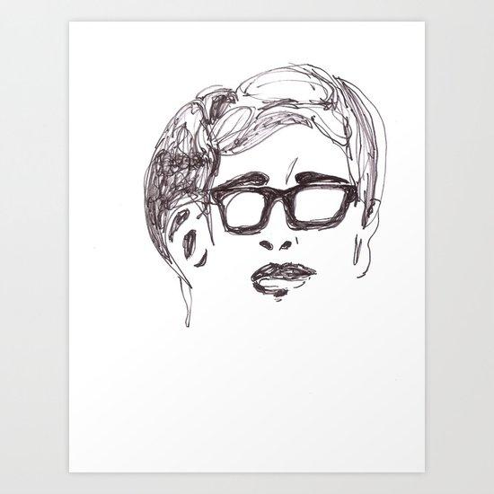 A Geek Hero Art Print