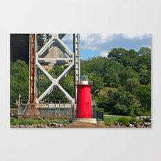 George Washington Bridge Lighthouse Canvas Print